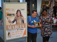 Marcia Hines shines in Queen Street Mall